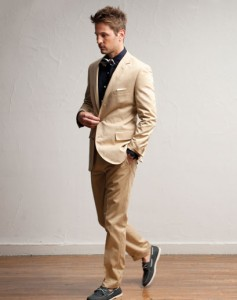 Jcrew model with chinos and jacket