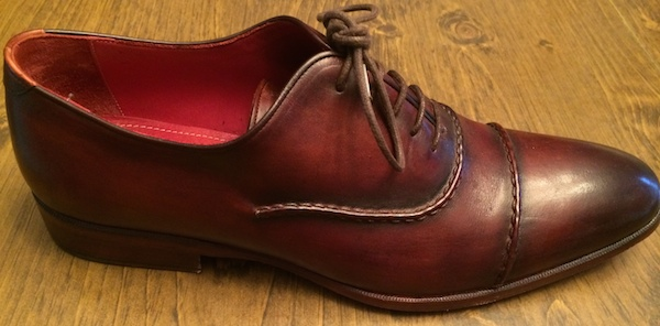 Red brown italian luxury shoes