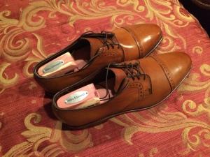 Allen Edmonds brown dress shoes for men