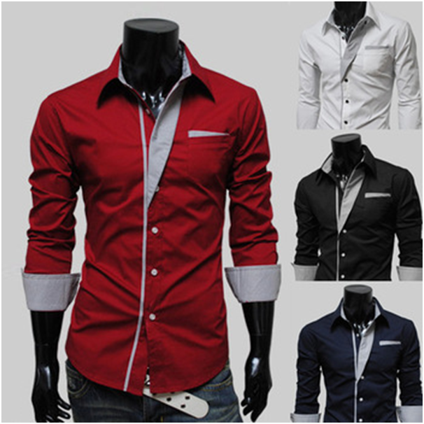Fitted mens dress shirts