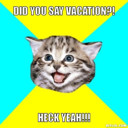 weekend getaway meme