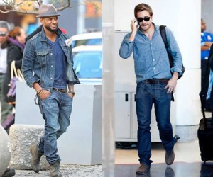 Usher and Jake Gyllenhaal  at the airport