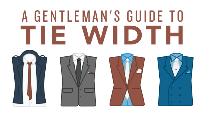 Courtesy of www.birchbox.com. As mentioned above, this inforgraphic aptly demonstrates that slimmer ties go well with narrower lapels and single buttoned jackets, while wider ties are more appropriately suited for suit jackets with multiple buttons such as a double breasted suit.