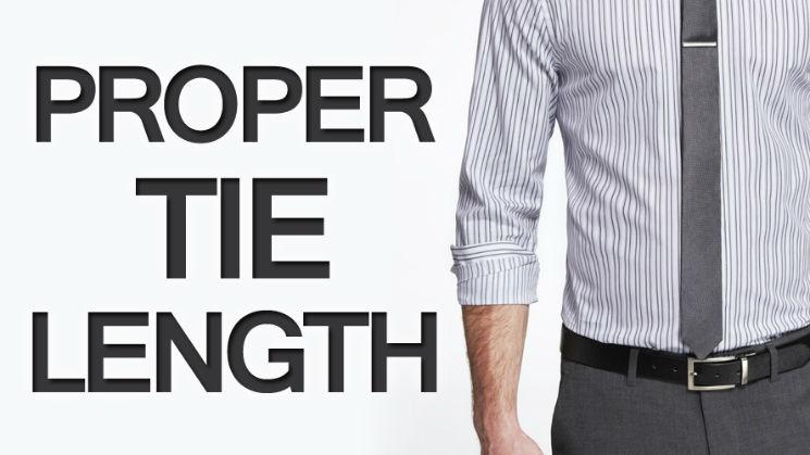 proper tie length