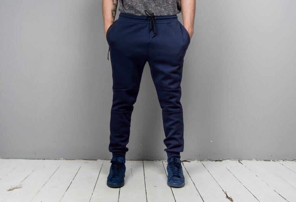 Navy Cuffed Sweatpants