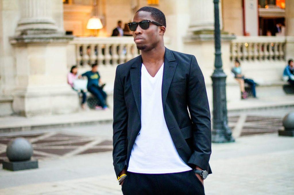 Men's Blazer with V neck shirt