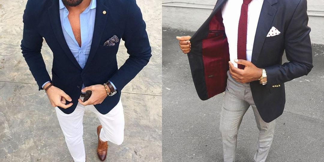6e48bbaeafab How to Wear a Navy Blazer - Kinowear